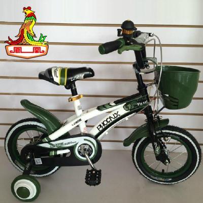 凤凰新法拉利儿童自行车小孩单车骑行车带辅助轮16寸 高清图片