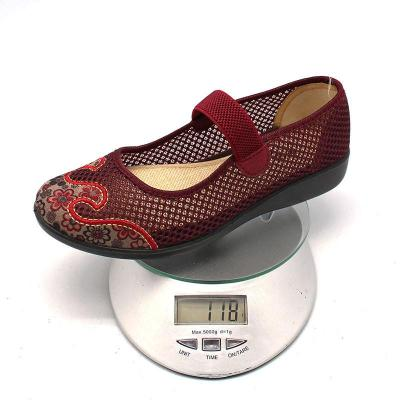 北京布鞋夏季新款女鞋网眼碎花凉鞋防滑休闲时尚平底