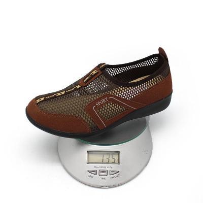 北京布鞋夏季新款女鞋网眼凉鞋防滑时尚平底透气浅口