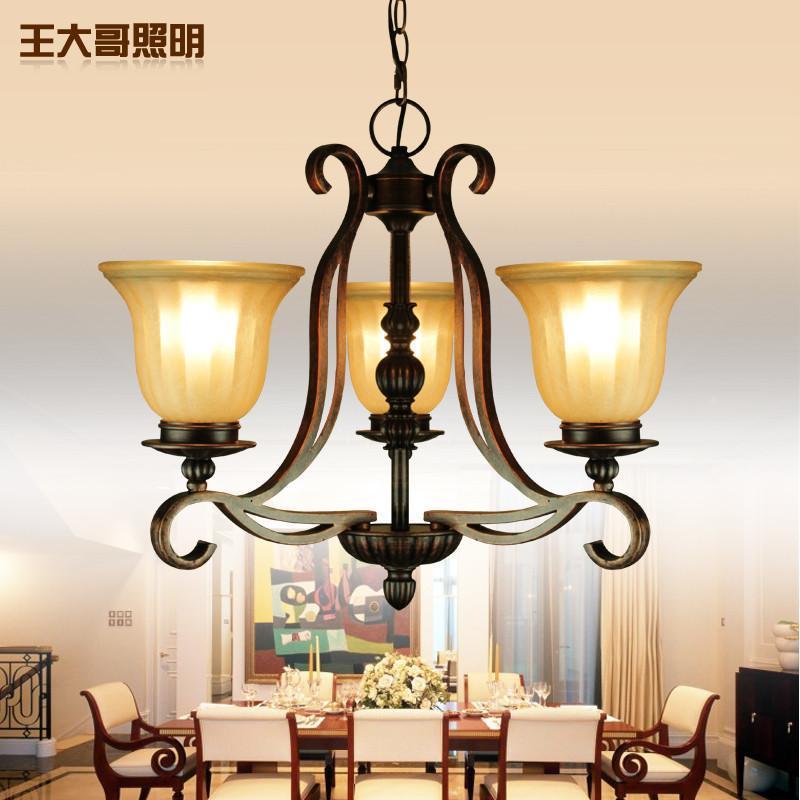 田园卧室客厅灯树脂铁艺餐厅