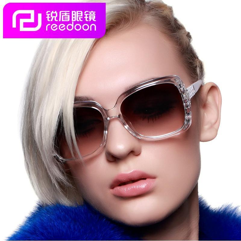 女士太阳镜超大框方形圆脸大脸墨镜潮流个性立体花纹图片