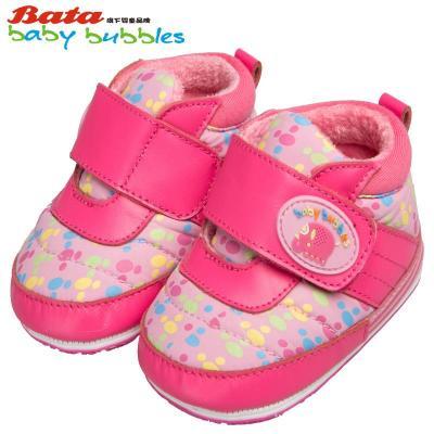 bubbles童鞋女童羊皮鞋婴儿软底学步鞋男童休闲