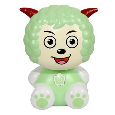 小灵精充电式led台灯儿童小学生阅读护眼清新绿色卡通红色小绵羊