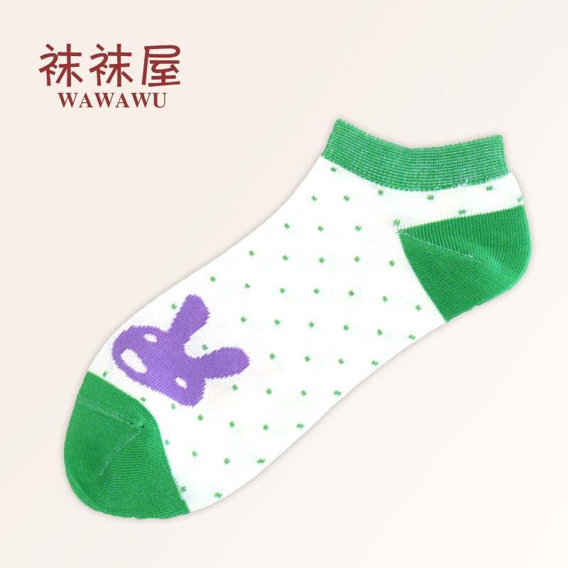 春秋新款女士可爱卡通小兔子船袜纯棉薄款袜子女短袜