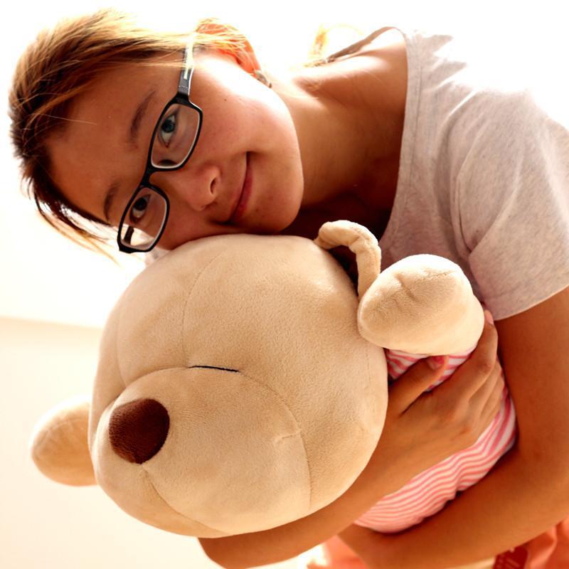 生日趴趴熊音乐头像可爱泰迪熊抱创意枕头粉色拽女生黑白礼物超图片