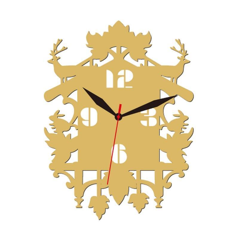 个性一百 森林系列b款时钟edg1402时钟创意时钟挂钟个性镂空壁钟可