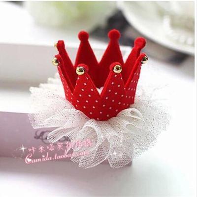 儿童发夹宝宝发饰头饰波点皇冠发夹公主可爱萌女童