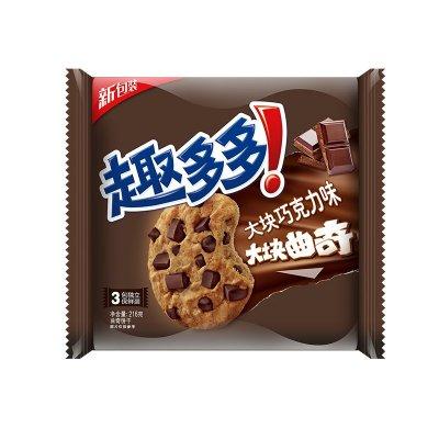 趣多多 大块巧克力味曲奇饼干(经典巧克力原味)216g/袋(家庭装)¥6.9,限购10