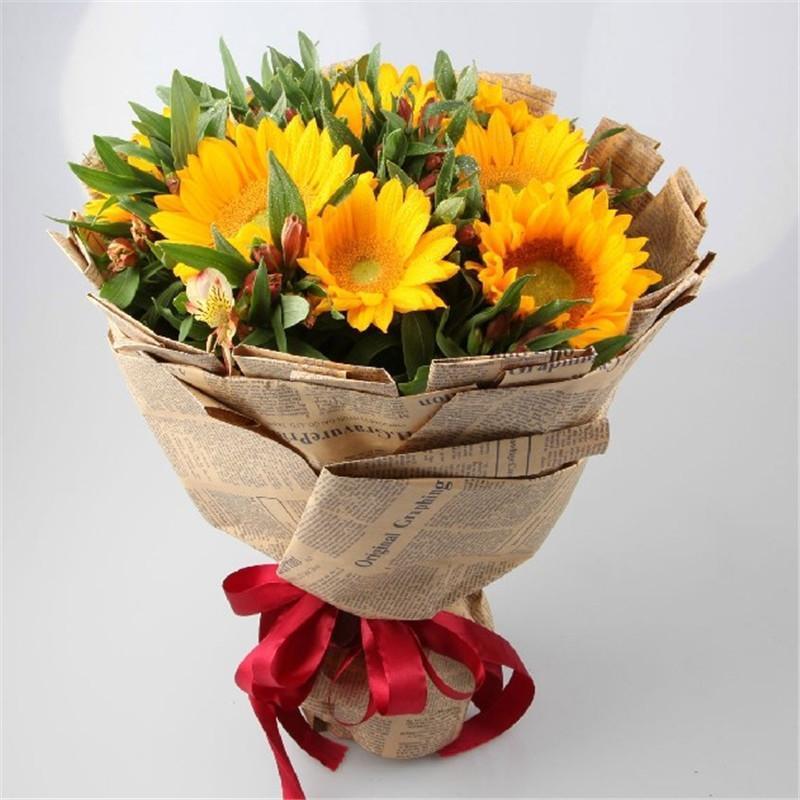爱的印记 9枝向日葵鲜花花束