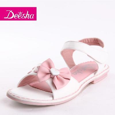 笛莎童装女童2014年夏季新款儿童鞋子中大童蝴蝶结