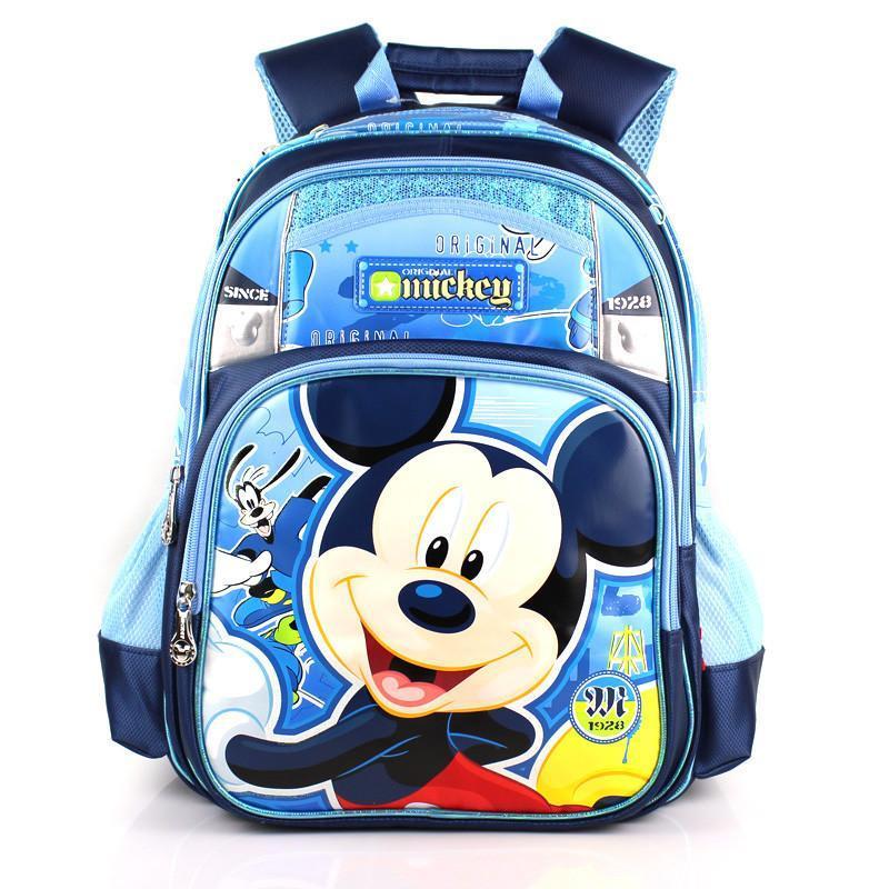 迪士尼儿童书包小学生卡通时尚韩版双肩减压背包大容量书包 蓝色