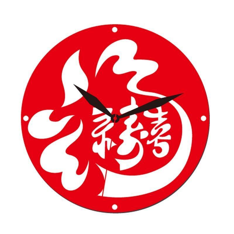福禄双喜创意时钟edg2504客厅挂钟个性时钟