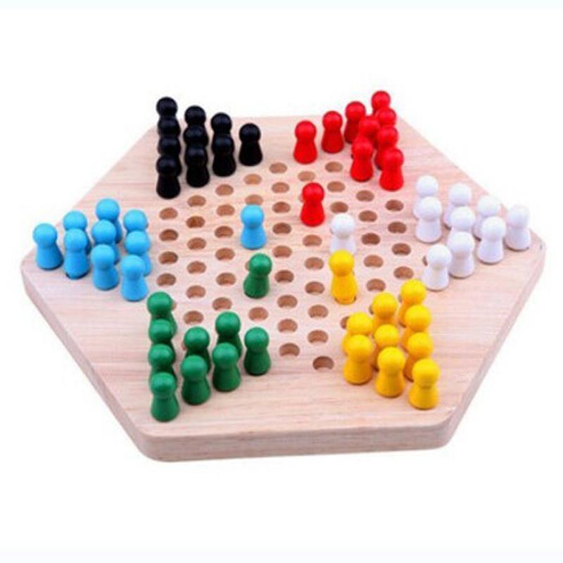 熙悦 木制智能玩具 儿童益智玩具 六角跳棋 亲子互动休闲 桌面游戏 xy图片
