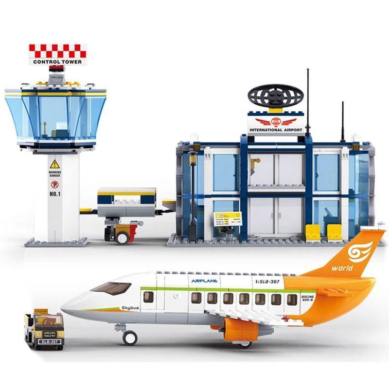 国际飞机场乐高式拼装积木