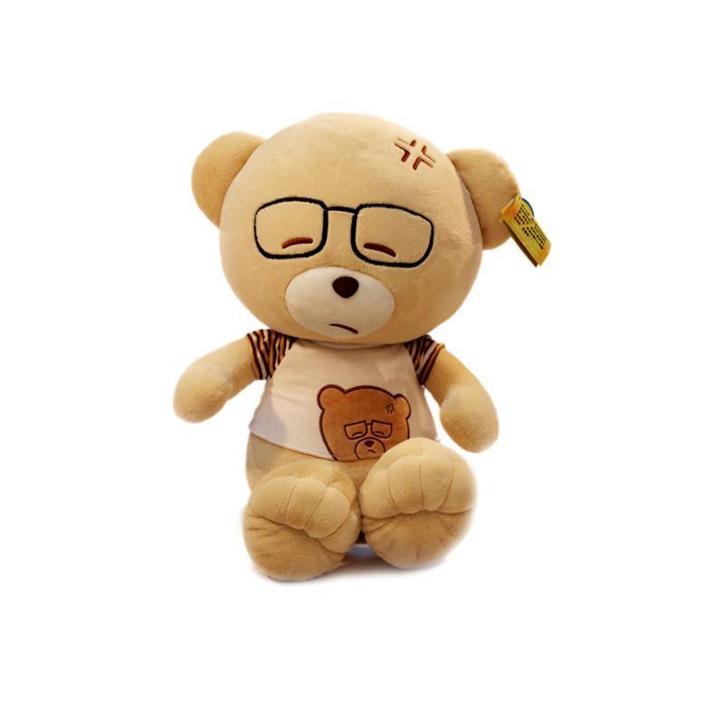 安吉宝贝 原创大号泰迪熊公仔眼睛熊博士熊毛绒玩具娃娃玩偶生日礼物
