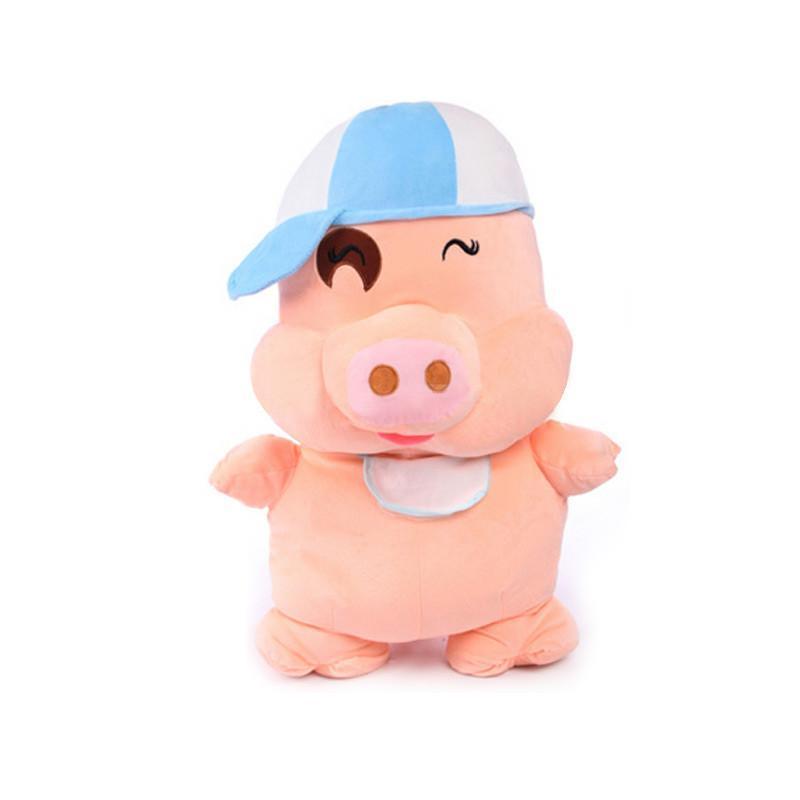安吉宝贝 可爱麦兜猪公仔大号猪猪玩偶布娃娃毛绒玩具生日礼物 35cm
