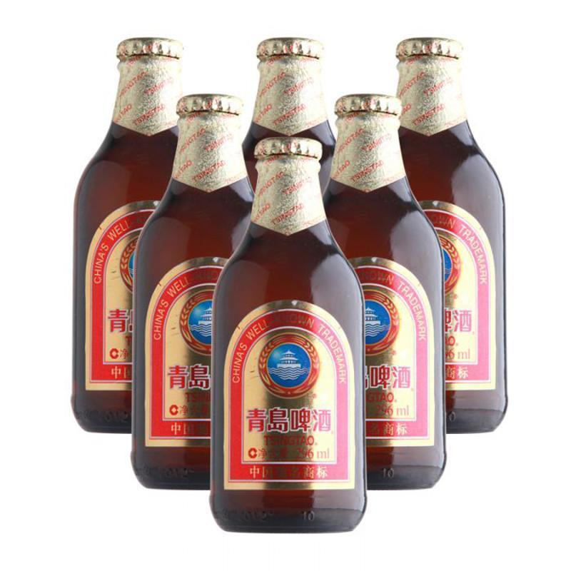 1919酒类直供 青岛啤酒棕金瓶装296ml 整件24瓶
