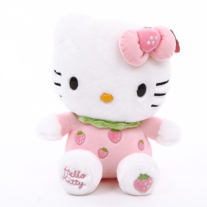 kitty凯蒂猫公仔可爱毛绒玩具kt猫