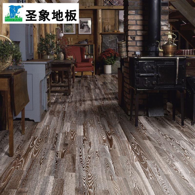 【圣象地板】圣象康逸实木地板三层实木复合v5之好