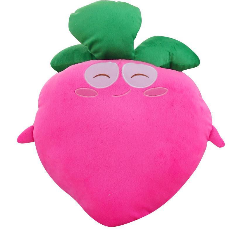 可爱萝卜抱枕公仔靠垫毛绒玩具