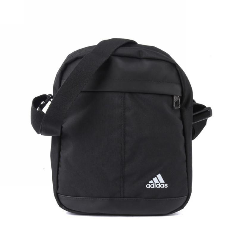 adidas 阿迪达斯 斜挎包单肩背包 f91376 黑色图片