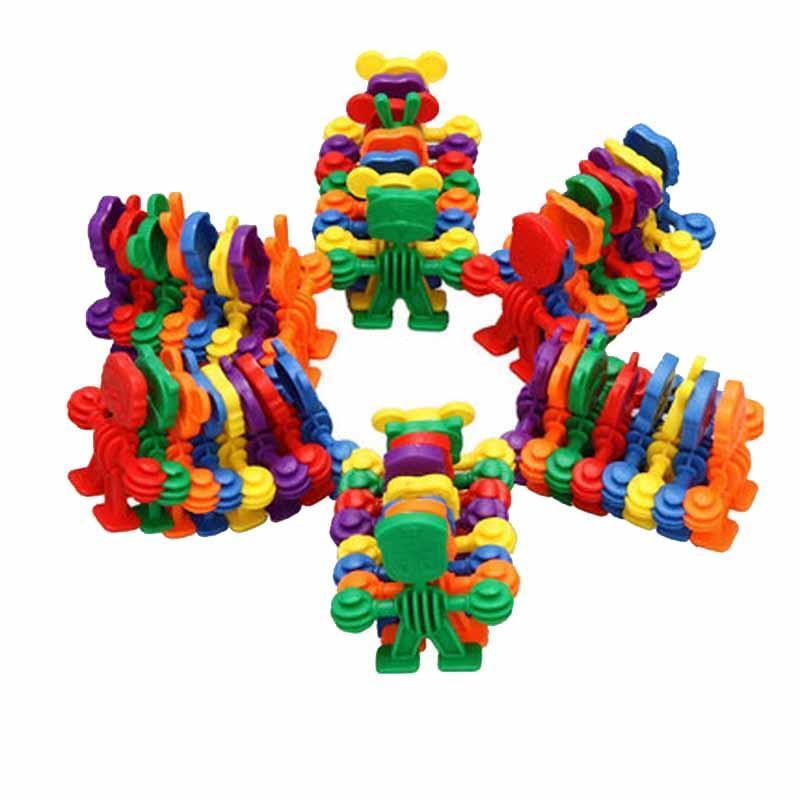 京奇动物乐园积木塑料软积木动手 拼插眼力分辨益智玩具1-3岁以上