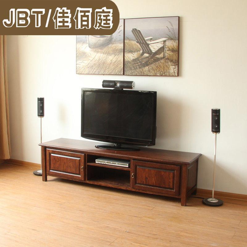 jbt/佳佰庭家具纯白橡木电视柜欧式电视机柜实木简约