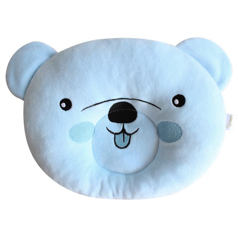 妙佳宝贝小熊定型枕 初生婴儿枕头 新生儿宝宝定型枕 纠正偏头 蓝色