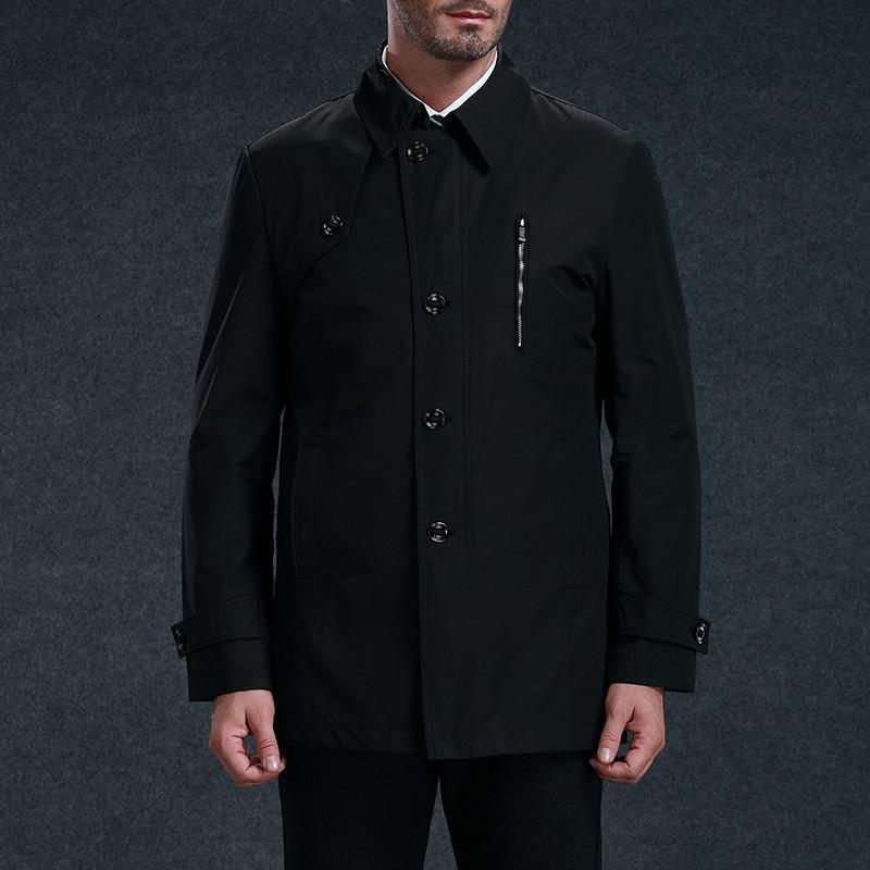 北極絨 男士風衣外套 男裝大衣 男 時尚休閑 歐美潮流圖片