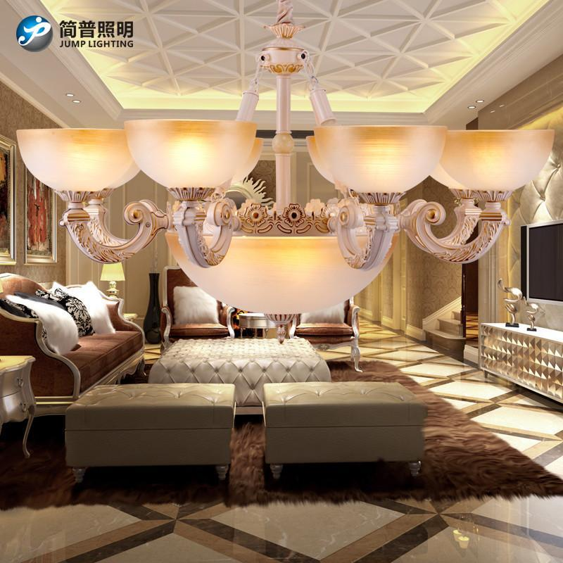 簡普歐式家居家裝燈具吊燈簡約歐式吊燈客廳簡歐吊燈田園客廳燈現代