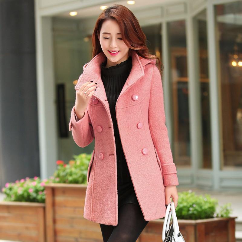 ��C�:/�:/�+�n��&_2014冬装新款新品 韩版女装修身毛呢外套n331 粉色 xl