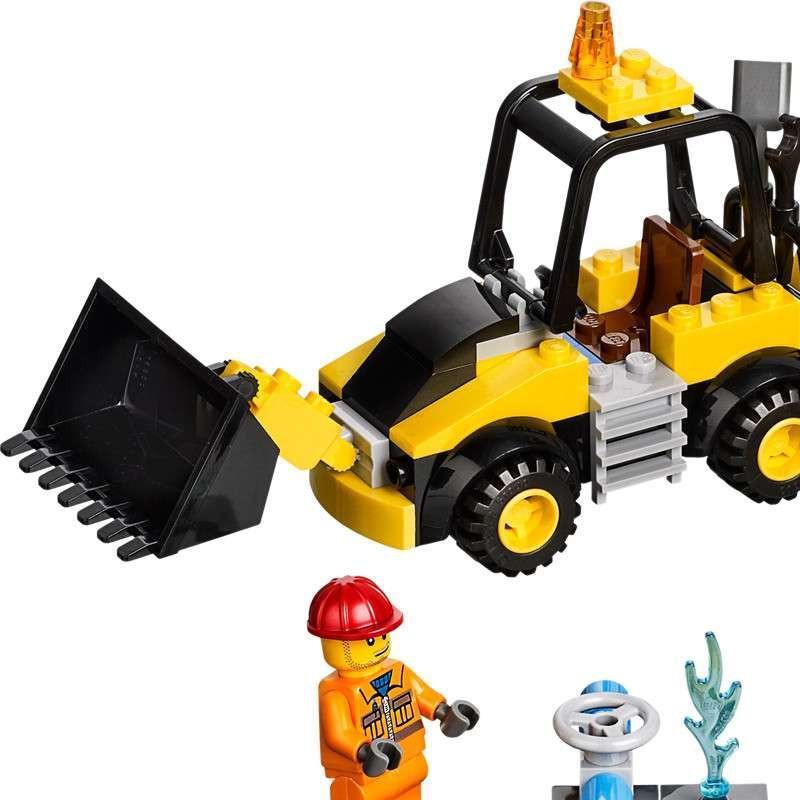 乐高lego儿童拼装积木玩具小拼砌师小型挖掘机l10666