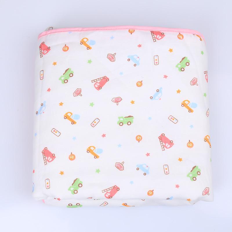 迪尼贝儿宝宝浴巾纯棉纱布婴儿浴巾新生儿包被毛巾被超柔春秋盖毯
