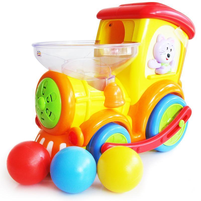 汇乐 嘟嘟小火车 万向音乐灯光智能婴儿玩具 益智儿童玩具