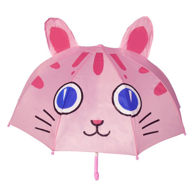 小红帽卡通儿童伞 幼儿园开学礼物表演伞 长柄立体造型晴雨伞 大眼猫