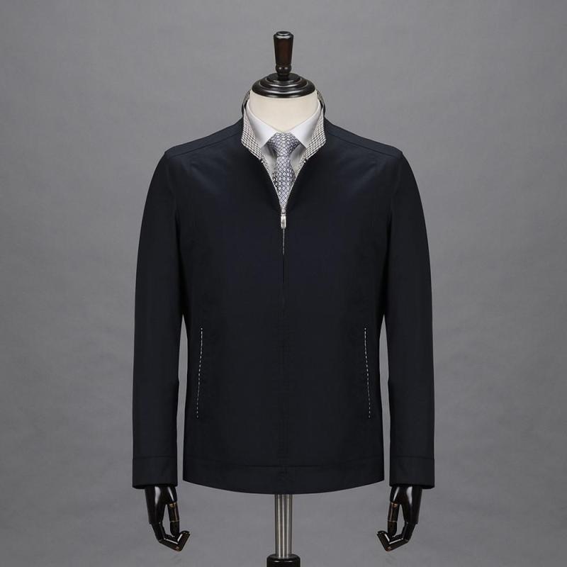 男裝正品立領夾克衫2014秋裝新款茄克高端品牌男士休閑修身款外套圖片