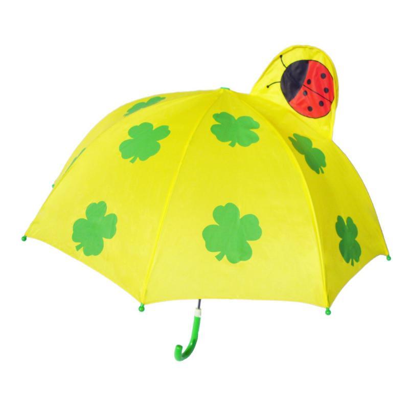小红帽卡通儿童伞 幼儿园表演 直杆 遮阳晴雨伞 开学礼物 四叶草 绿色