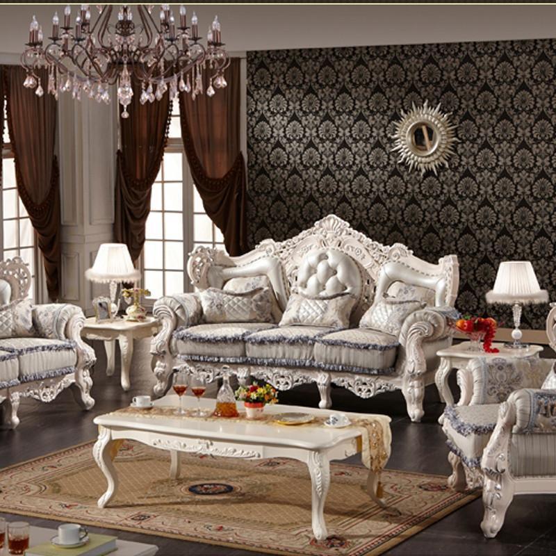 法丽莎家具g1实木沙发组合客厅欧式沙发仿古木质100%