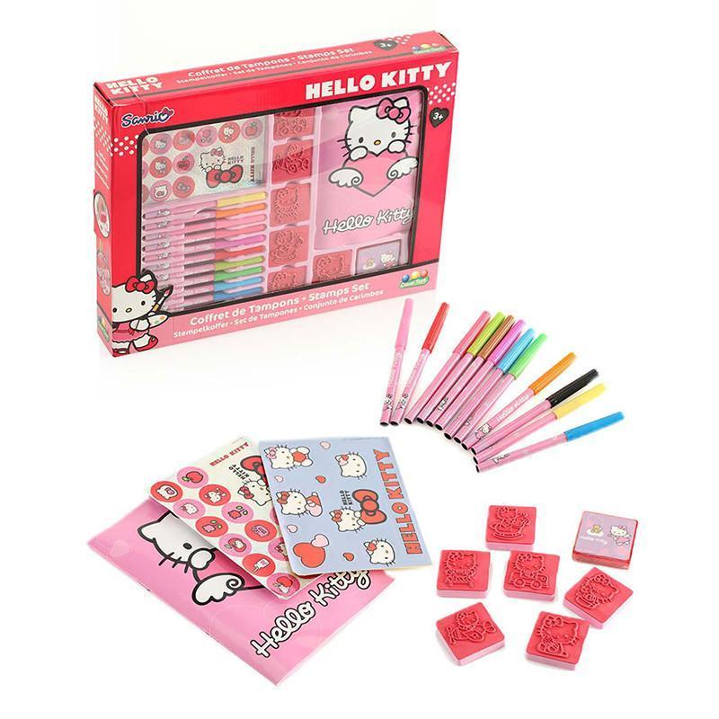kitty)趣味印章套装儿童卡通画画印章