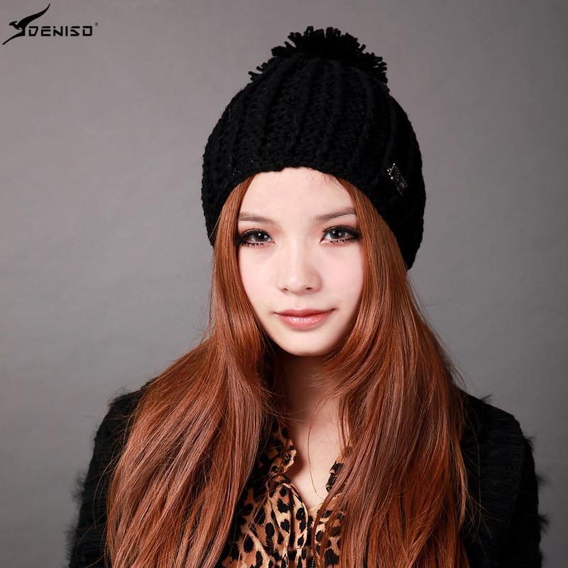 deniso帽子冬帽女款纯手工编织帽针织帽毛线帽ds