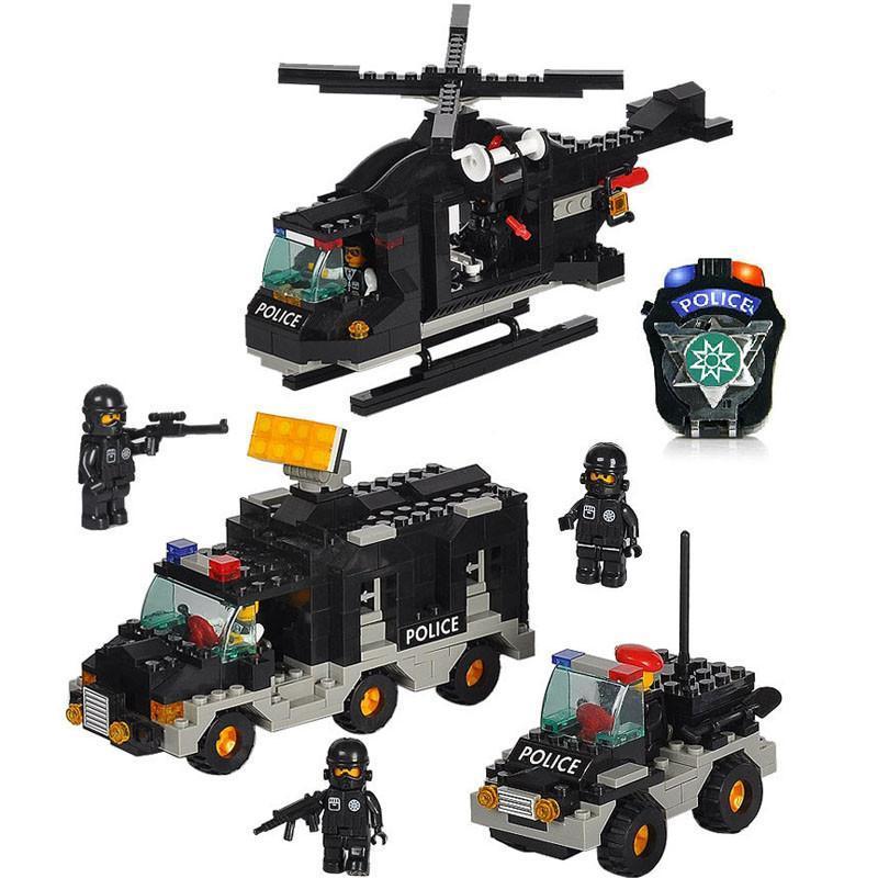 小鲁班益智拼插积木军事拼装玩具飞机 积木塑料拼插 男孩玩具