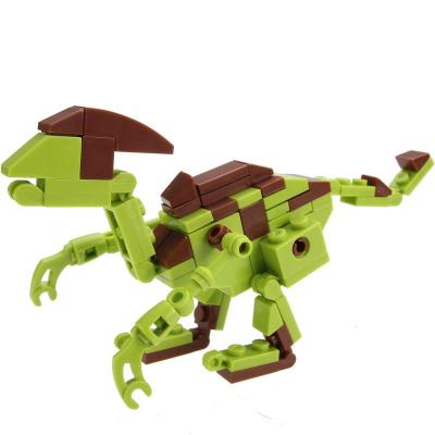 动物恐龙积木 8款可合1 塑料拼插儿童宝宝玩具 益智启蒙积木【似栉龙