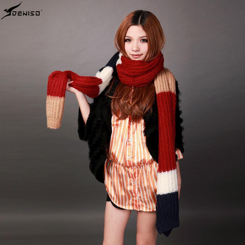 手工编织围巾针织