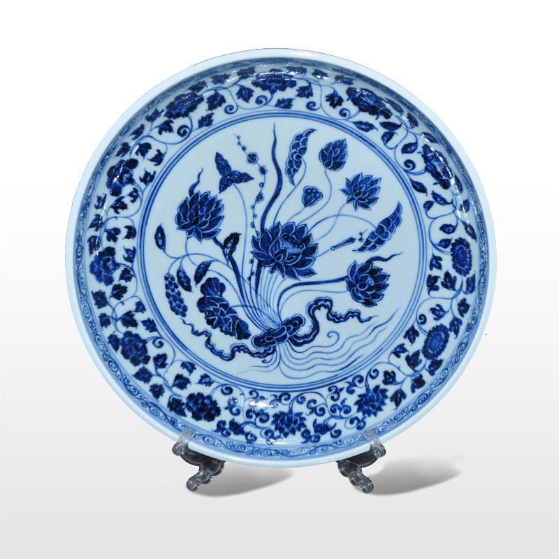 淘瓷缘景德镇青花手绘瓷器餐具盘窝盘果盘摆件青花宣