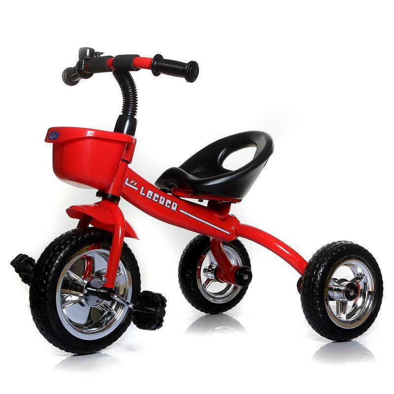 【乐卡】lecoco 乐卡 儿童三轮车 脚踏车 宝宝童车 玩具车自行车 T301运动版中国红【报价、价格、评测、参数】_【乐卡】三轮车-苏宁易购