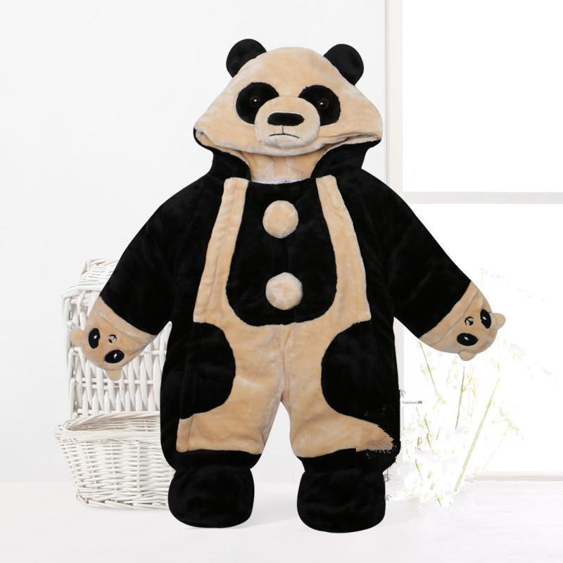 宝宝熊猫哈衣婴儿动物造型连体棉衣儿童装男女衣服服