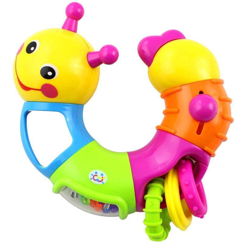 汇乐玩具可爱小虫子786b婴儿手摇铃宝宝早教益智玩具
