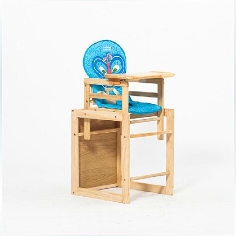 小龙哈彼组合式多功能儿童餐椅lmy403 原木色图片