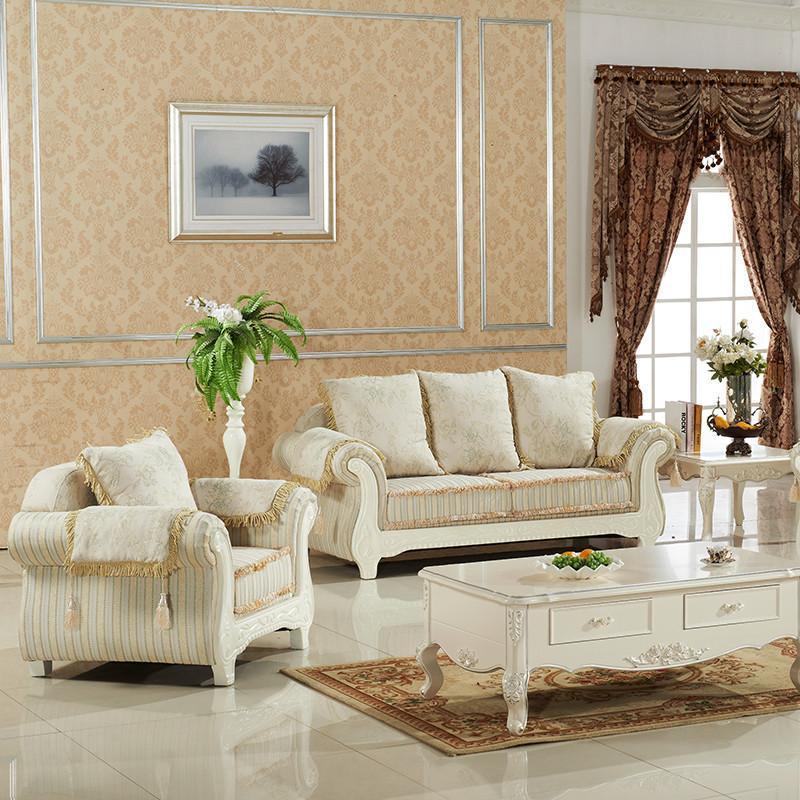 汤美斯家具 欧式法式沙发 田园布艺沙发客厅组合 简欧
