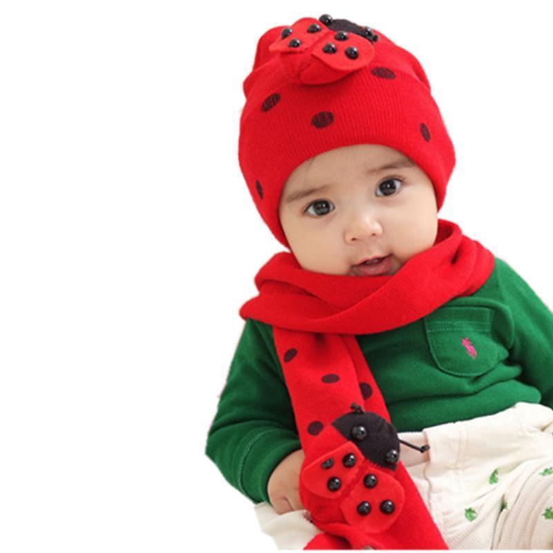 金童冕 秋冬新款宝宝可爱帽子围巾脖套组合卡通套头帽